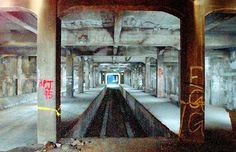 Abandoned subway system - contruction started in 1920's and 30's, but never completed and never used - Cincinnati, Ohio, USA
