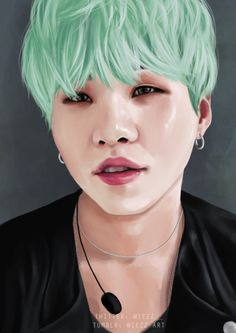 """iezz-art: """" FA - Suga   commission for @daddy-suga thank you! ♥ Please do not edit or repost. twitter   redbubble """""""