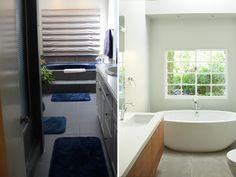 Antes e Depois: Dicas de reforma de banheiros e lavabos | http://www.bimbon.com.br/projeto/antes_e_depois_dicas_de_reforma_de_banheiros_e_lavabos
