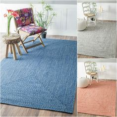 nuLOOM Handmade Casual Solid Braided Rug x - 17633883 - Overstock - Great Deals on Nuloom - Rugs - Mobile Handmade Home Decor, Handmade Rugs, Bed Rug, Area Rugs For Sale, Modern Area Rugs, Rugs In Living Room, Living Spaces, Online Home Decor Stores, Online Shopping