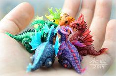 Mini Dragons - Rainbow by dallia-art.deviantart.com on @DeviantArt