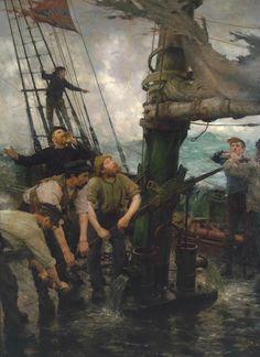 Henry Scott Tuke (1858-1929), All Hands to the Pumps - 1888/89