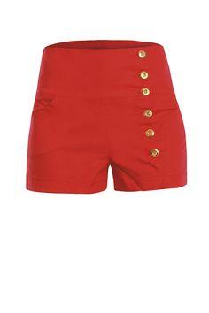 1347d49eecc Short de Cintura Alta Coral Fashion Vocabulary