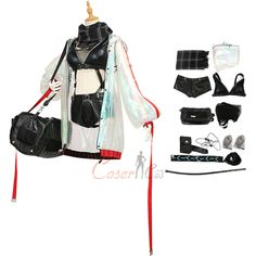 Item Number:gmarn007, Schwarz Costume Arknights Cosplay Agent Cool Shooter Sniper Women online sale. Buy profession cosplay costumes from cosercos.com Game Costumes, Cosplay Costumes, Mephisto, Cosplay Dress, Womens Size Chart, Online Sales, Long Toes, Headgear, Item Number