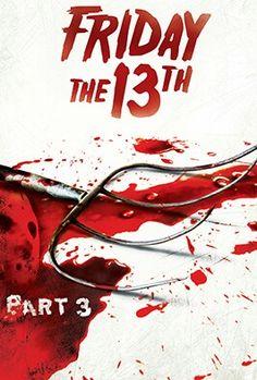 Friday The 13th 3, Jason Friday, Horror Movie Posters, Horror Film, Horror Movies, Movie Covers, Jason Voorhees, Chucky, Scary Movies