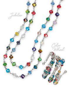20394 Jubilee Necklace $37 5862 Color Wheel Bracelet $32