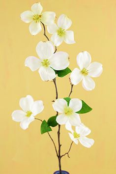 3.47 SALE PRICE! Decorate your special event with this Cream Dogwood flower. This artificial flower features large white blossoms with cheery yellow centers ...