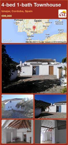 Townhouse for Sale in Iznajar, Cordoba, Spain with 4 bedrooms, 1 bathroom - A Spanish Life Murcia, Valencia, Portugal, Cordoba Spain, Townhouse, Property For Sale, Spanish, Bathroom, Bed