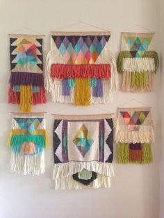 10 pce CUSTOM weaving collection for KATIE woven wall hanging by Maryanne Moodie Weaving Textiles, Weaving Art, Tapestry Weaving, Loom Weaving, Quilting, Weaving Projects, Art Projects, Woven Wall Hanging, Textile Art