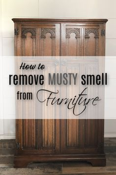 Have you ever wondered how to remove that musty smell from wood furniture? I have a few solutions that you can try that work for me. restoration How To Remove Musty Smell From Furniture Cheap Furniture Makeover, Diy Furniture Renovation, Diy Furniture Easy, Furniture Repair, Diy Furniture Projects, Paint Furniture, Repurposed Furniture, Furniture Refinishing, Refurbished Furniture