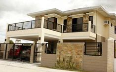 26 Ideas For House Design Exterior Philippines Dream Homes Design … - Modern 2 Storey House Design, House Gate Design, House Front Design, Balcony Design, Small House Design, Modern House Design, Modern Zen House, Model House Plan, House Plans