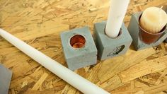 We use a high quality concrete mix and an ice cube mold to create a few fun, modern, useful household items.