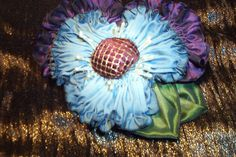 Vintage Style French Ombre Ribbonwork Flower Millinery Corsage Broch | eBay
