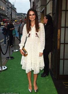 Pretty as a picture:  Fashion fan and red carpet regular Keira Knightley was the perfect choice to co-host a prestigious event laid on by BAFTA in London on Sunday night