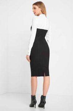 Blusenkleid Elegant, Highlights, High Neck Dress, Tops, Model, Dresses, Fashion, Business Dresses, Classy