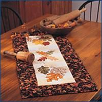 Falling Leaves.For your convenience, we are offering free design downloads of patterns for the Falling Leaves table runner, created by Faith Reynolds. The Falling Leaves table runner appears in our November/December 2004 Issue.