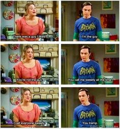 "You call me sweety all the time... Season 5, Episode 10, ""The Flaming Spittoon Acquisition"" #TBBT #TheBigBangTheory #Sheldon      ::)"