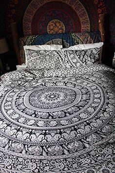 indischen Mandala Bettbezug Überwurf Queen Bettbezug Decor Hippie Tapisserie