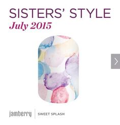 Sister style wrap for Jamberry July 2015 you can purchase them here at my website. www.sarasjamminails.jamberrynails.net