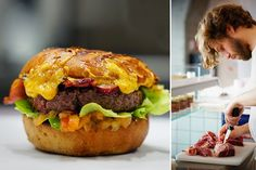 Ça vous tente, un boucher qui fait ses propres burgers ?  Persillé 66 Rue du Chevaleret, 75013 Paris  Horaires d'ouverture : du lundi au vendredi de 10h à 16h et de 17h à 20h, le samedi de 10h à 16h et de 17h à 19h.  15 euros le menu burger + boisson + dessert. 13,50 euros le menu plat du jour.  Et aussi : charcuteries à la coupe, rôtisseries, steaks hachés sur place, cours de découpe et de cuisine...