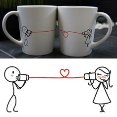 """Say I Love You"" His & Hers Coffee Mug Set"