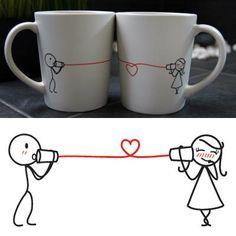 """Say I Love You"" His & Hers Coffee Mug Set"