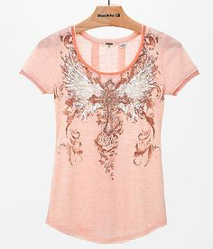 Miss Me Winged Cross Top - Women's Shirts/Tops | Buckle