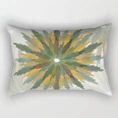 Leafy Wreaths Rectangular Pillow by weivy Pattern Flower, Face Towel, Presents For Friends, Good Cause, Hand Towels, Duvet, Tapestry, Wreaths, Throw Pillows