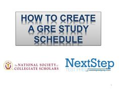 Check out some quick bullet points on how to plan your GRE study schedule. Next Step Test Prep is here to help, check out our site to find a GRE prep online tutor.  http://nextsteptestprep.com/tests/gre-tutors/