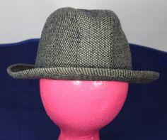 Vintage Hat London Fog Fedora Black and Gray by ilovevintagestuff
