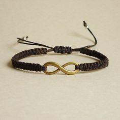 Brass Infinity Bracelet