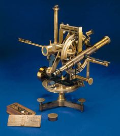 A RARE 19TH-CENTURY FRENCH LACQUERED-BRASS MAGNETOMETER,