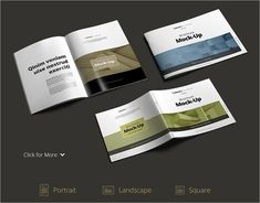 TriFold Brochure MockUp Bundle  Mock Up Free MockUp