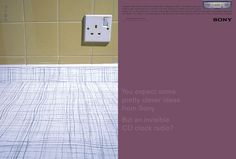 Sony, Invisible; Art Director; Dave Dye, Writer; Sean Doyle