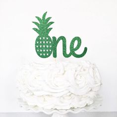Beautiful Picture of First Birthday Cake Toppers First Birthday Cake Toppers One Cake Topper Pineapple One Cake Topper Birthday Etsy First Birthday Cupcakes, 1st Birthday Cake Topper, First Birthday Decorations, Birthday Diy, Birthday Ideas, Birthday Nails, Easy Cake Decorating, Pineapple Cake, Diy Cake