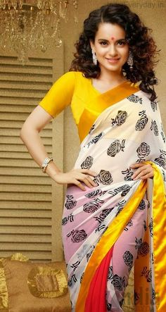 actress kangana ranaut latest cute hot exclusive transparent saree navel show spicy photoshoot gallery 4 actress kangana ranaut
