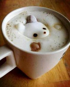 Un tenero cappuccino con orsetto! Latte Art