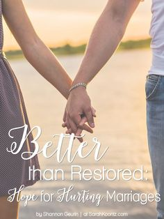 Restoration in marriage is hard. Sometimes you'll want to quit, but if you'll…