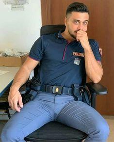 Men In Tight Pants, Tight Suit, Cop Uniform, Men In Uniform, Sexy Military Men, Hot Cops, Scruffy Men, Hunks Men, Beautiful Men Faces