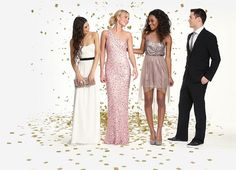 I love the third girl's dress! the short one.