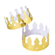 Gold Foil Paper Crowns - Wholesale Hats, Bandanas and Costume A King Crown Images, Mardi Gras Hats, Wholesale Hats, Gold Foil Paper, Paper Crowns, Black Balloons, Thing 1, Kings Crown, Bible Crafts