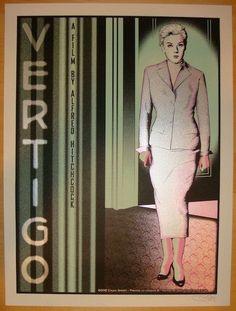 "2012 ""Vertigo"" - Silkscreen Movie Poster by Chuck Sperry"