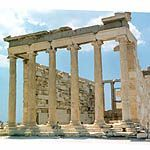STYLE-ANCIENT GREEK, IONIC; ARCHITECT-MNESICLES;-421TO-405; ERECTHEION; ATHENS, GREECE; TEMPLE COMPLEX