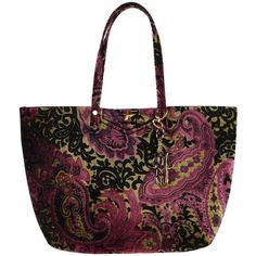 La Fille Des Fleurs Handbag ($115) ❤ liked on Polyvore featuring bags, handbags, purple, velvet bag, velvet purse, purse bag, purple handbags and purple bag
