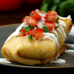 Creamy Chicken Chimichanga by Tasty