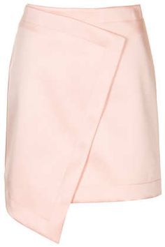 Topshop Wrap Lux Skirt -- quite like Perrie Edwards Style, Short Skirts, Mini Skirts, Winter Pastels, Blush Skirt, Beautiful Prom Dresses, Fashion Outfits, Fashion Trends, Fashion Ideas