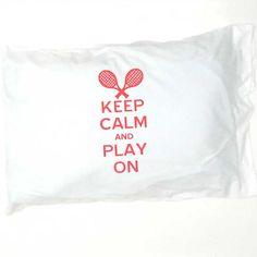 Tennis pillowcase!