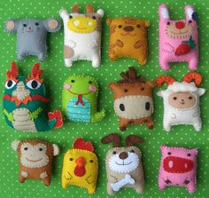love felt animals