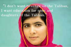 Gunmen attempted to kill the 14-year-old Malala Yousafzai, who had campaigned and blogged about girls' education in the troubled Swat Valley, as she rode home on a school bus in October. Description from pinterest.com. I searched for this on bing.com/images