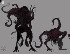 Monster Concept Art, Alien Concept Art, Creature Concept Art, Fantasy Monster, Monster Art, Creature Design, Arte Horror, Horror Art, Fantasy Creatures